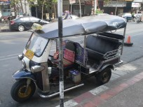 Tuk Tuk vehicle. Each city seems to have their own version of this.