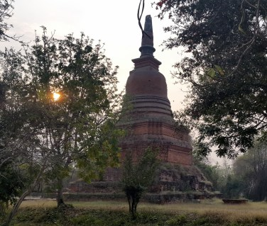 Sunrise while temple hunting