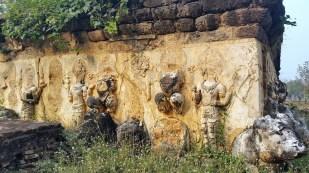 Vestiages of ornate sculptures