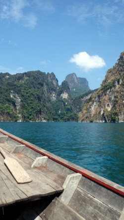 Khao Sok lake and surroundings seen from our boat