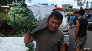Man carrying vegetables