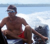 Our snorkel guide and captain on Bunaken