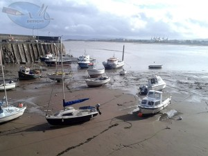 Minehead harbour.