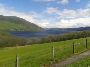 Loch Ness coming into view