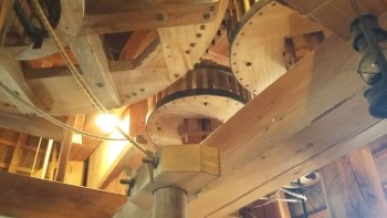 Inside the windmill in Ermelo