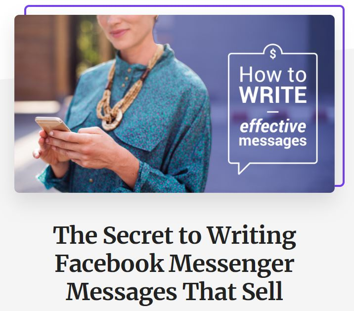 The Secret to Writing Facebook Messenger Messages that Sell