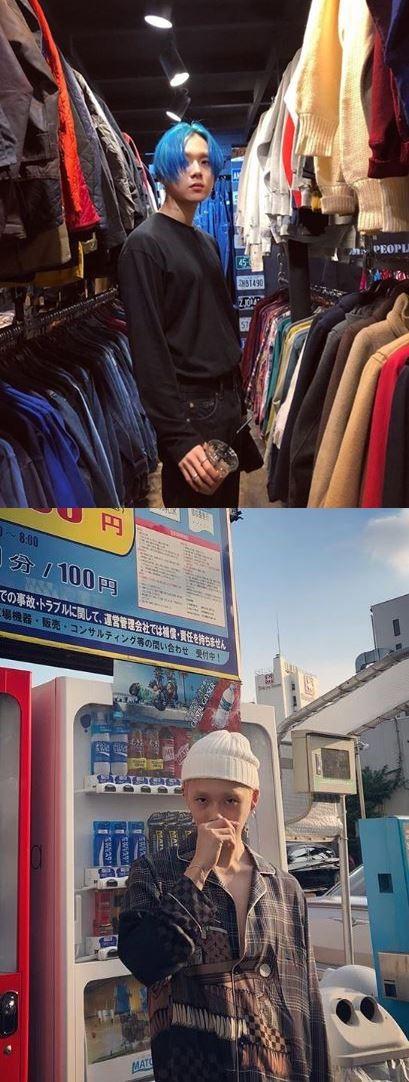 ヒョナと同行していた東京での写真を掲載したイドン