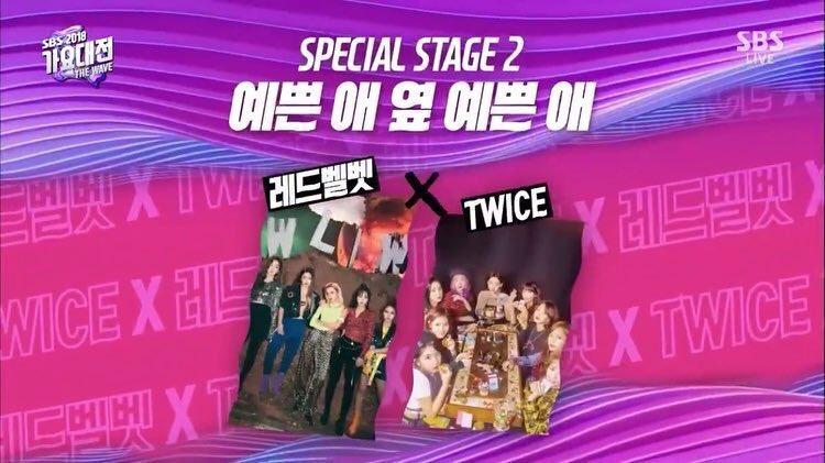 Red VelvetとTWICEのコラボに関心集中!!