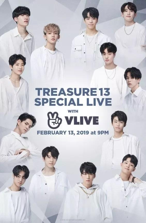 13日午後9時 V LIVE「TREASURE13 SPECIAL LIVE」!!