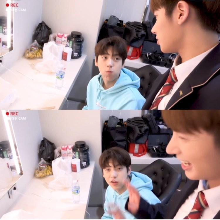 テヒョン「兄さんは学校に行かないんですか?」<br>スビン「僕20歳(韓国の年齢)です...」