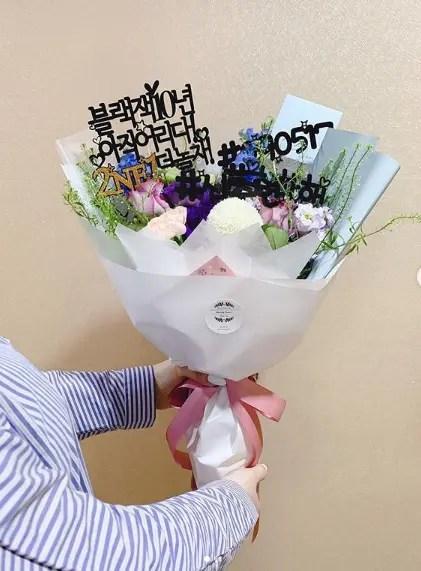 ファンから送られてきたお花