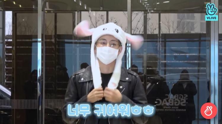 走れバンタン ジミン ウサギの帽子