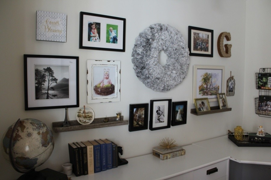 project: home office & gallery wall