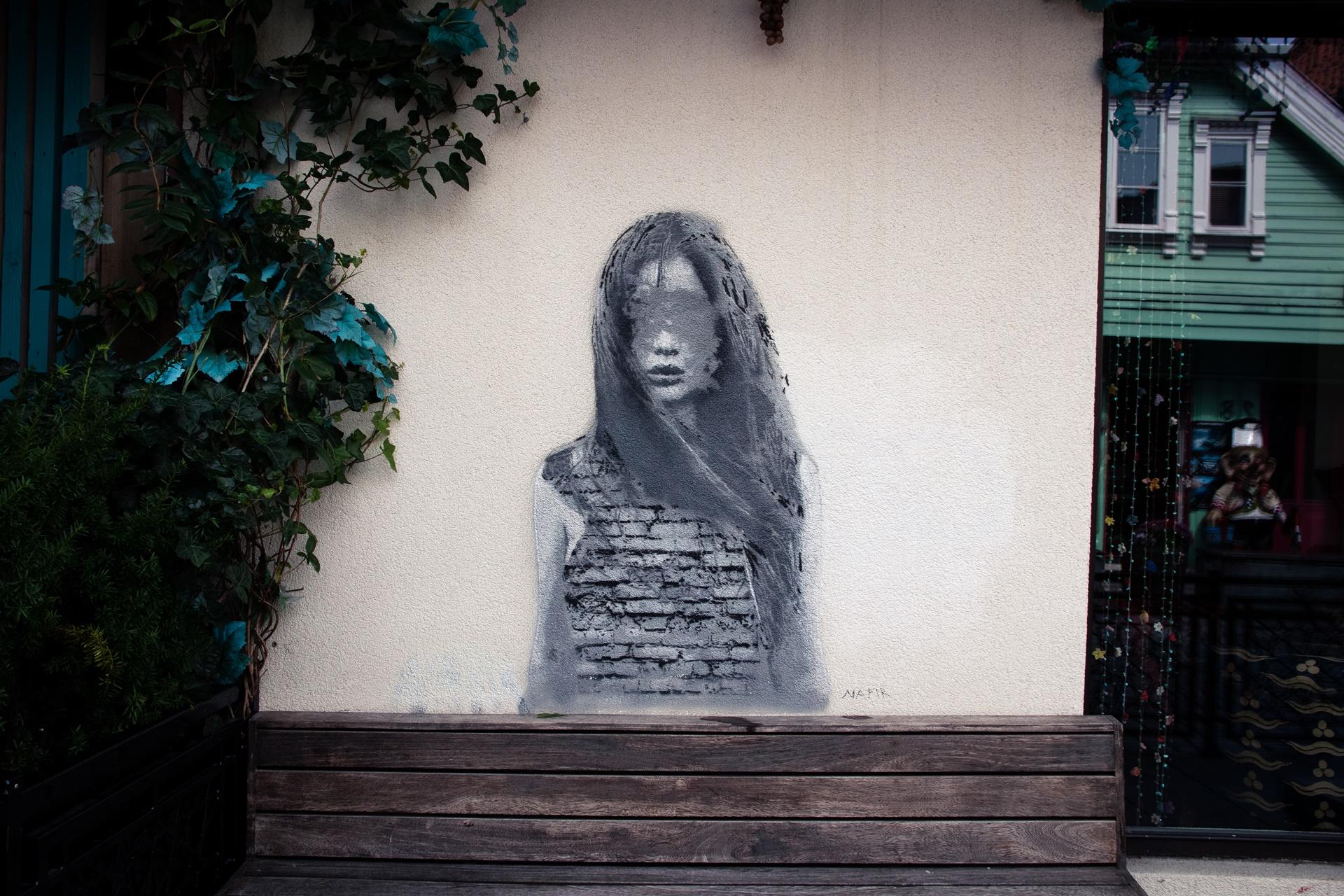 traveling street art Stavanger Norway