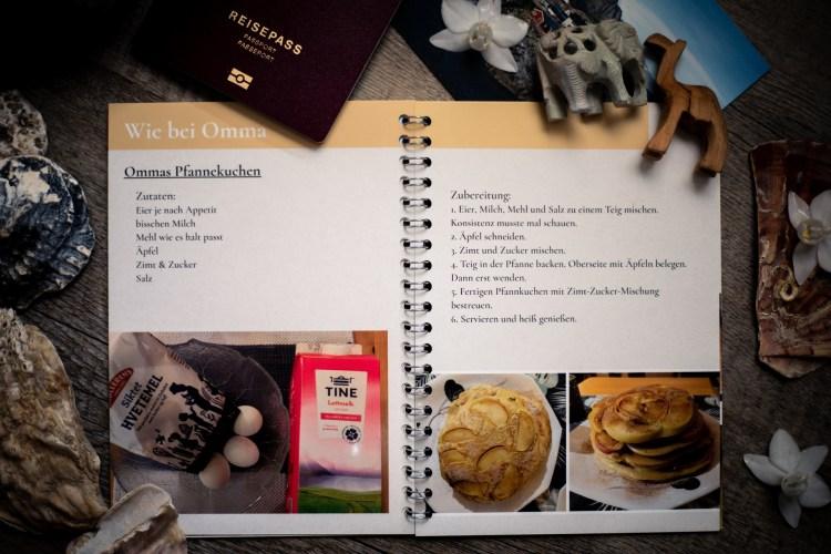 Kochbuch für die Reise Innenseite