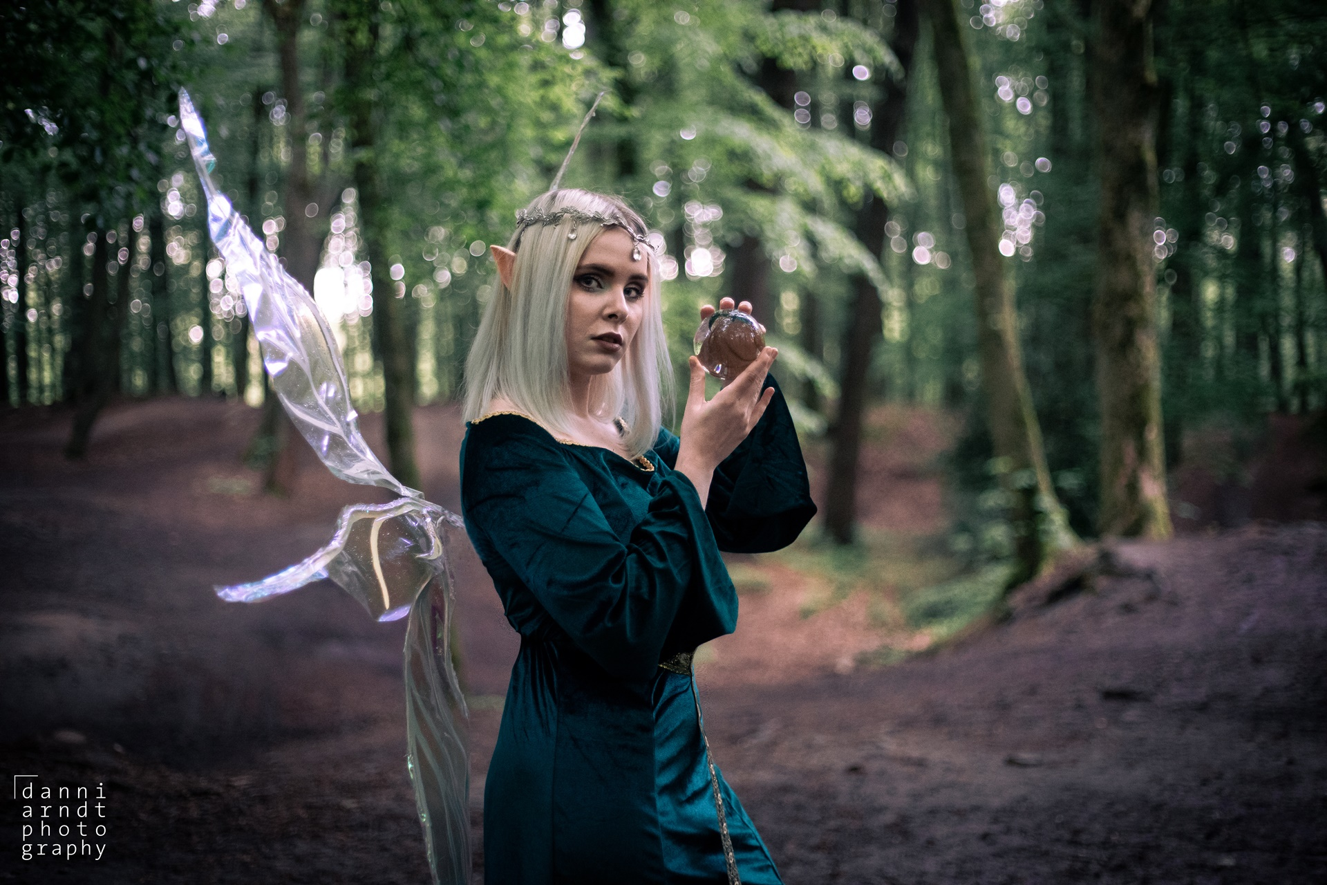 Shooting Elfe Fee Denise grünes Kleid