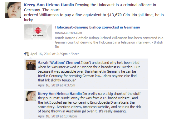 Against Holocaust Denial Laws