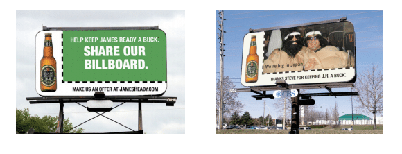 James Ready billboard campaign