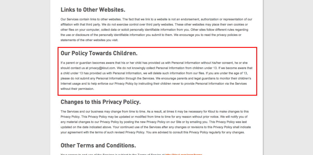 Klout Privacy Policy