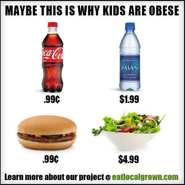 Cost of healthy food