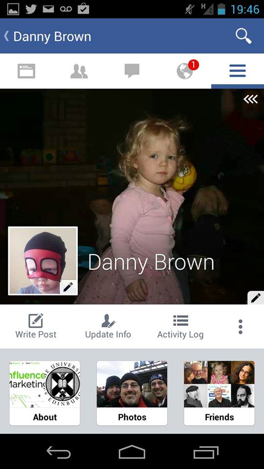 Facebook for Android profile