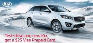 Kia Test Drive Offer