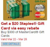 Staples - Mastercard Offer