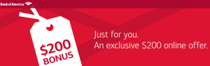 Bank of America    200 Offer