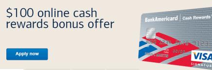 BankAmericard Cash Rewards™ credit card from Bank of America