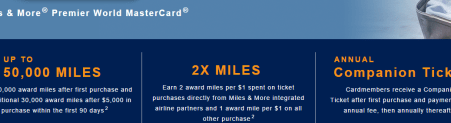 Lufthansa Miles   More World MasterCard Offer