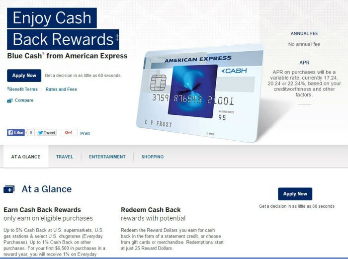 Amex Old Blue Cash