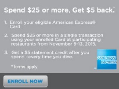 Amex Offers Dine