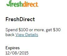 Amex Offers FreshDirect