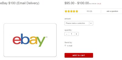 eBay 100 Email Delivery Target
