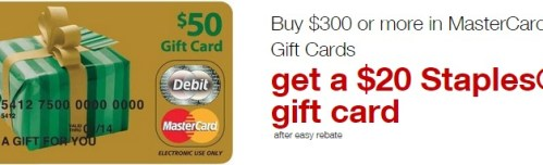 Staples Mastercard 20 Rebate
