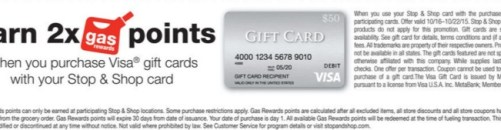 Stop Shop Visa gift cards gas