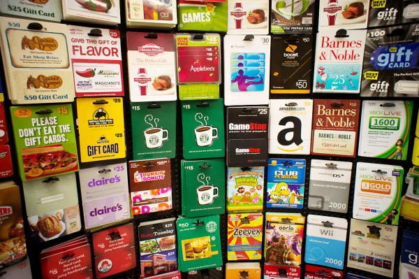 A selection of gift cards in a store in New York on Wednesday, March 2, 2019. (© Richard B. Levine)