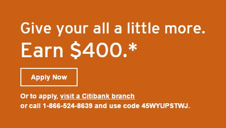 Citibank Offering $400 Bonus For Checking Account - Danny the Deal ...