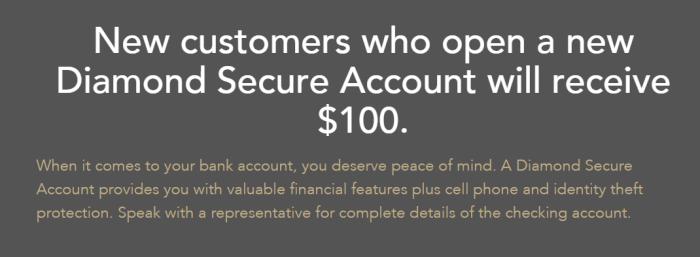 pinnacle bank checking bonus 100