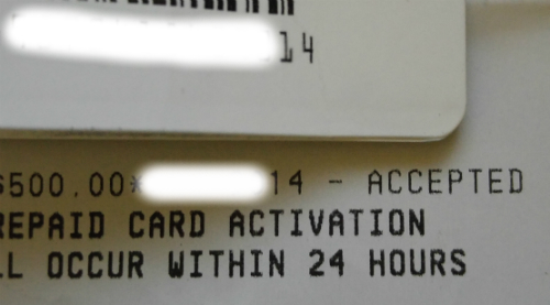 Receipt and Package
