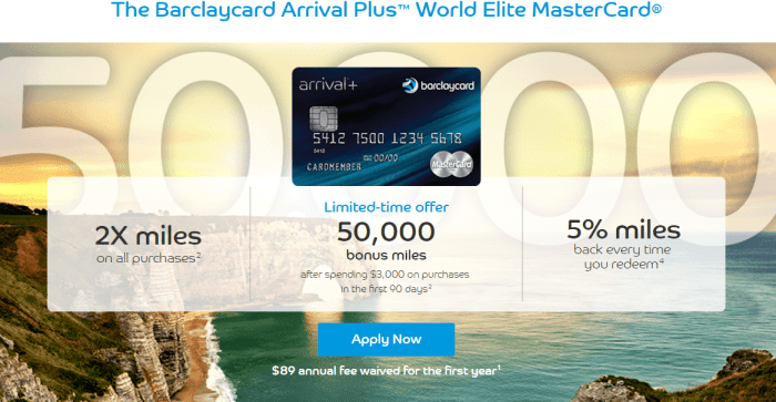 Barclaycard Arrival Plus 50K