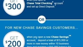 Chase $600 Bonus for Checking and Savings Accounts - Sirsyed