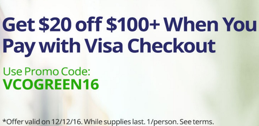 20 off 100 at newegg with visa checkout stack with amex offer