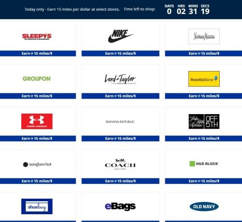 15 Miles Per Dollar Shop online at MileagePlus Shopping.jpeg