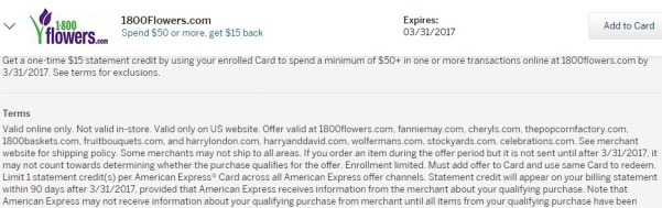My American Express Account Summary 1800flowers.jpeg