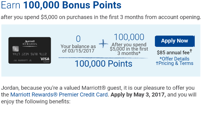 Bonus For Chase Marriott Rewards Card