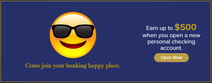 HarborOne Bank checking bonus 500