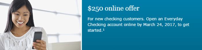 Wells Fargo Everyday Checking Account – 250 Offer – Wells Fargo