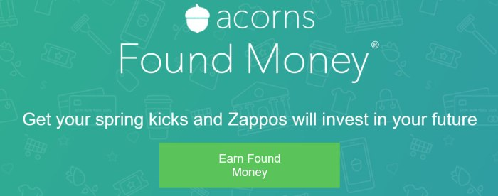 acorns found money