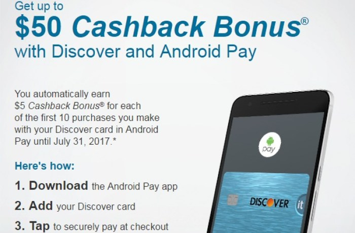 discover android pay